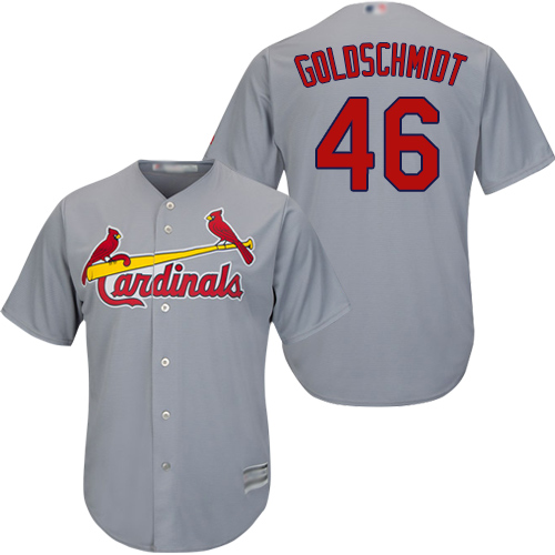 Cardinals #46 Paul Goldschmidt Grey Cool Base Stitched Youth MLB Jersey