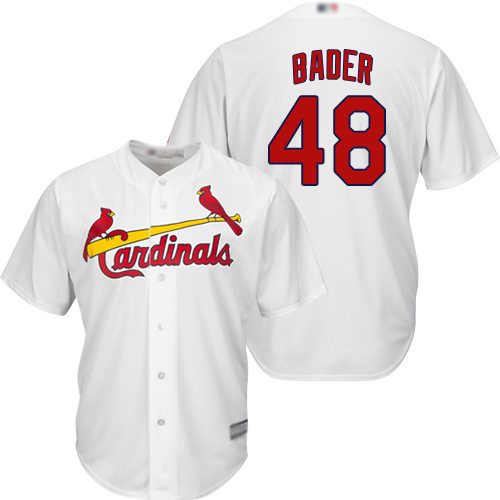 Cardinals #48 Harrison Bader White Cool Base Stitched Youth MLB Jersey