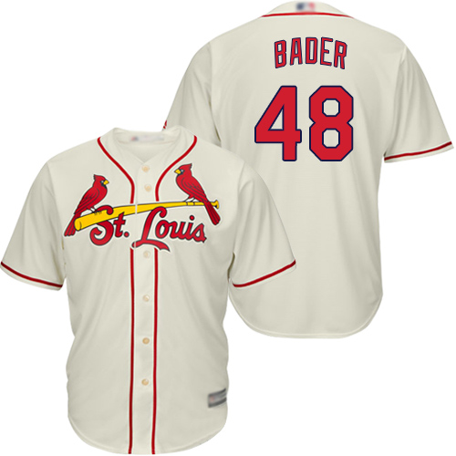 Cardinals #48 Harrison Bader Cream Cool Base Stitched Youth MLB Jersey