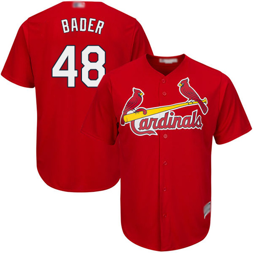 Cardinals #48 Harrison Bader Red Cool Base Stitched Youth MLB Jersey