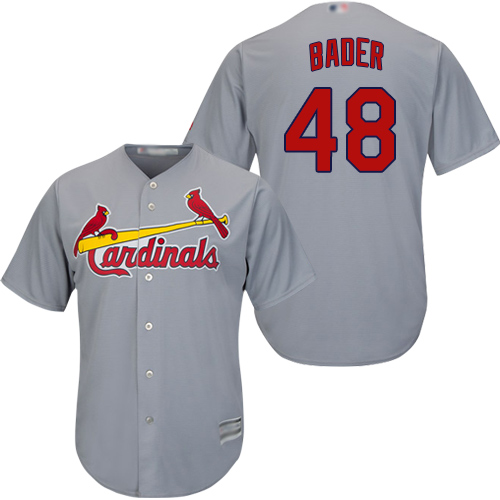 Cardinals #48 Harrison Bader Grey Cool Base Stitched Youth MLB Jersey