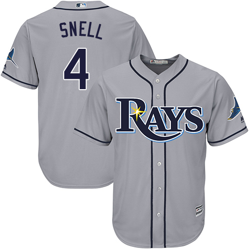 Rays #4 Blake Snell Grey Cool Base Stitched Youth MLB Jersey