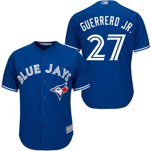 Blue Jays #27 Vladimir Guerrero Jr. Blue Cool Base Stitched Youth MLB Jersey