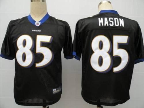 Ravens #85 Derrick Mason Black Stitched Youth NFL Jersey