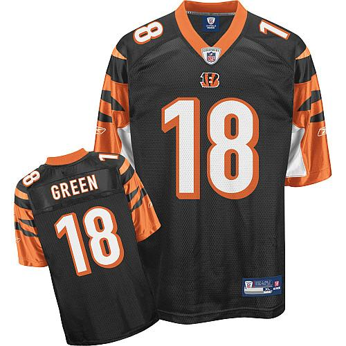 Bengals #18 A.J. Green Black Color Stitched Youth NFL Jersey