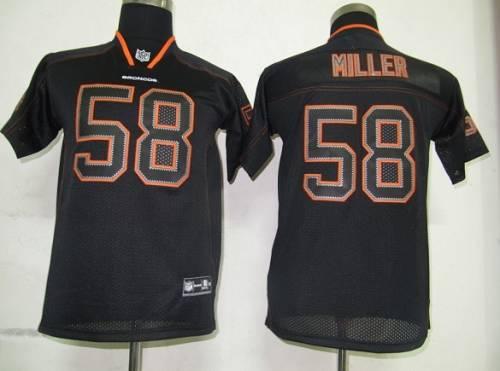 Broncos #58 Von Miller Lights Out Black Stitched Youth NFL Jersey