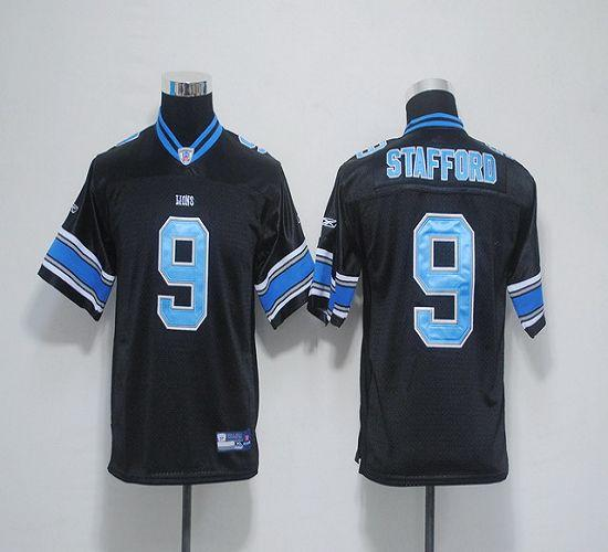Lions #9 Matthew Stafford Black EStitched Youth NFL Jersey
