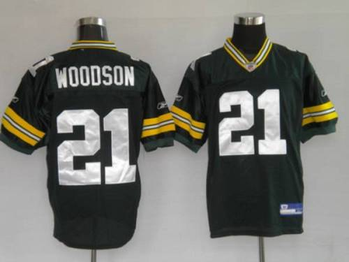 Packers #21 Charles Woodson Green Stitched Youth NFL Jersey