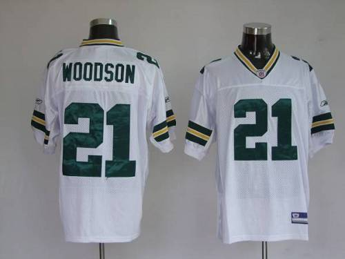 Packers #21 Charles Woodson White Stitched Youth NFL Jersey