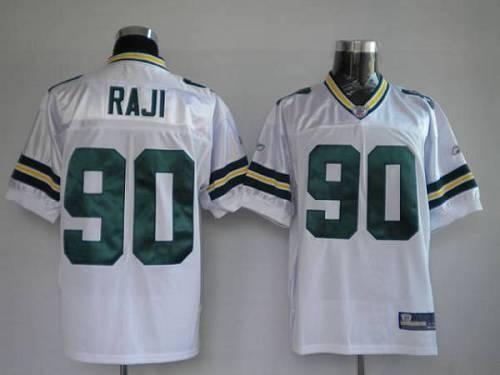 Packers #90 B.J. Raji White Stitched Youth NFL Jersey