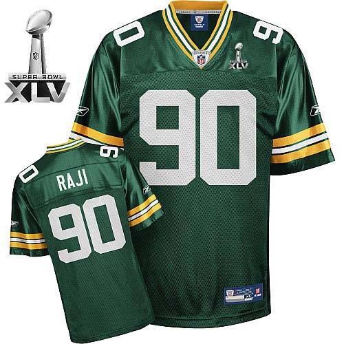 Packers #90 B.J. Raji Green Super Bowl XLV Stitched Youth NFL Jersey