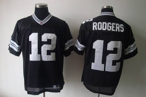 Packers #12 Aaron Rodgers Black Shadow Stitched Youth NFL Jersey