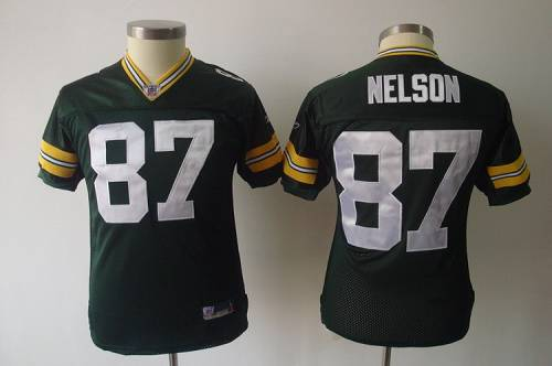 Packers #87 Jordy Nelson Green Stitched Youth NFL Jersey