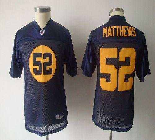 Packers #52 Clay Matthews Blue Stitched Youth NFL Jersey