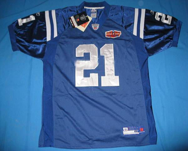 Colts #21 Bob Sanders Blue With Super Bowl Patch Stitched Youth NFL Jersey