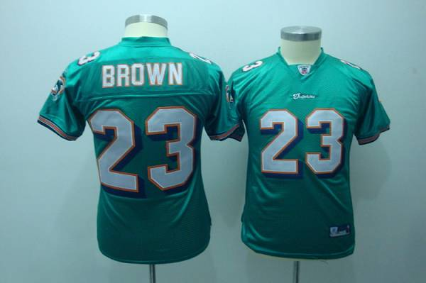 Dolphins #23 Ronnie Brown Green Stitched Youth NFL Jersey
