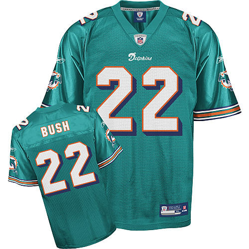 Dolphins #22 Reggie Bush Green Team Color Stitched Youth NFL Jersey