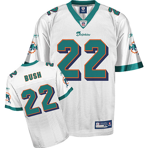 Dolphins #22 Reggie Bush White Stitched Youth NFL Jersey