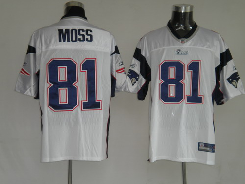 Patriots #81 Randy Moss White Stitched Youth NFL Jersey