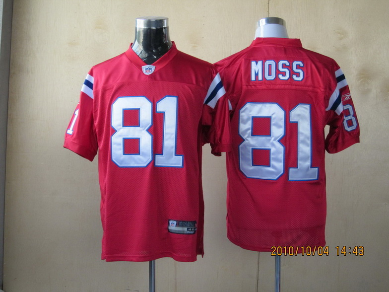 Patriots #81 Randy Moss Red Stitched Youth NFL Jersey