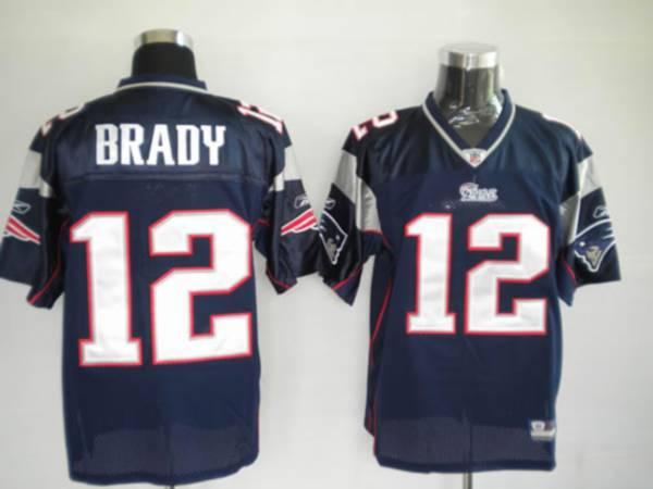 Patriots #12 Tom Brady Blue Stitched Youth NFL Jersey