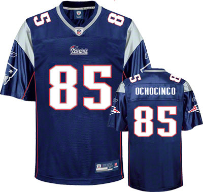 Patriots #85 Chad Ochocinco Blue Stitched Youth NFL Jersey