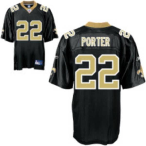 Saints #22 Tracy Porter Black Stitched Youth NFL Jersey