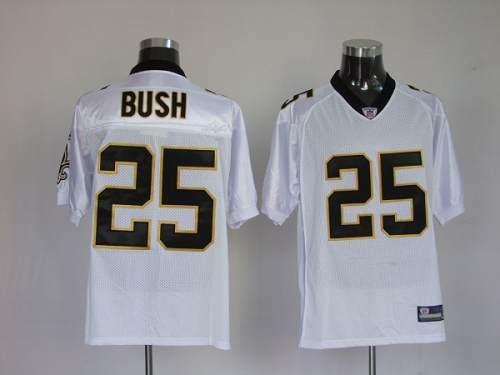 Saints #25 Reggie Bush White Stitched Youth NFL Jersey