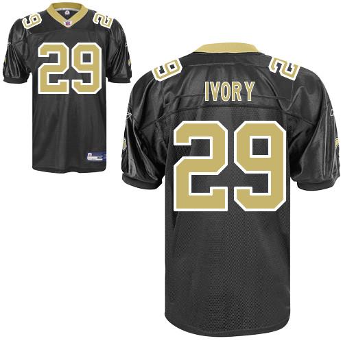 Saints #29 Chris Ivory Black Stitched Youth NFL Jersey