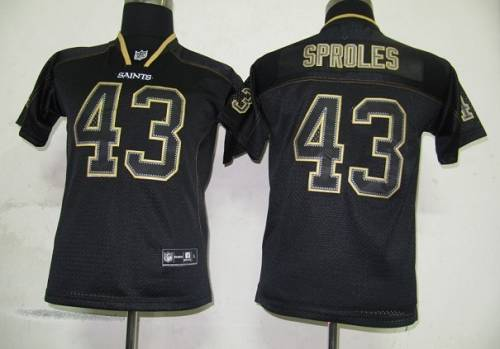Saints #43 Darren Sproles Lights Out Black Stitched Youth NFL Jersey