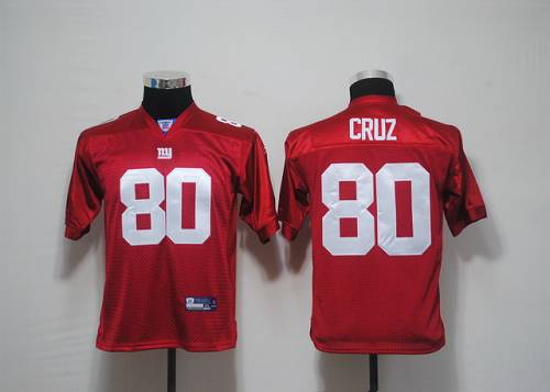 Giants #80 Victor Cruz Red Stitched Youth NFL Jersey