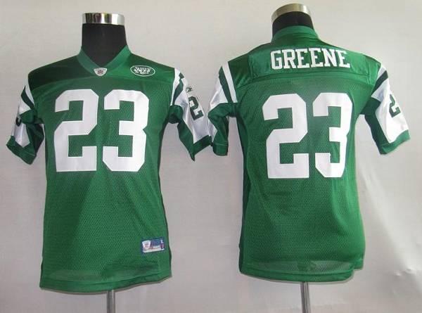 Jets #23 Shonn Greene Green Stitched Youth NFL Jersey
