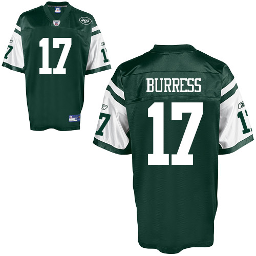 Jets #17 Plaxico Burress Green Stitched Youth NFL Jersey