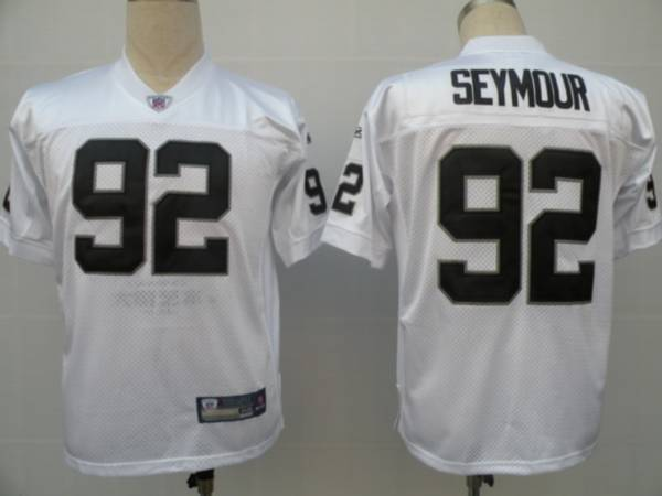 Raiders #92 Richard Seymour White Stitched Youth NFL Jersey