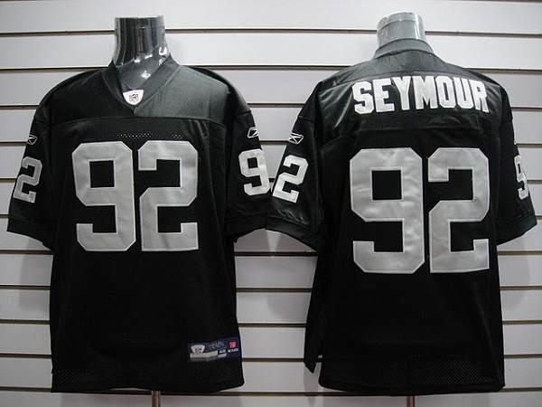 Raiders #92 Richard Seymour Black Stitched Youth NFL Jersey