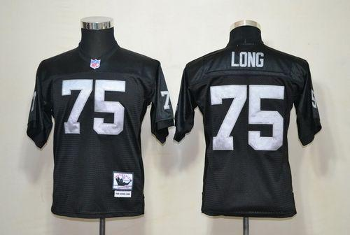 Mitchell And Ness Raiders #75 Howie Long Black Throwback Stitched Youth NFL Jersey