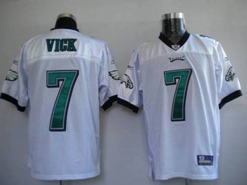 Eagles #7 Michael Vick White Stitched Youth NFL Jersey