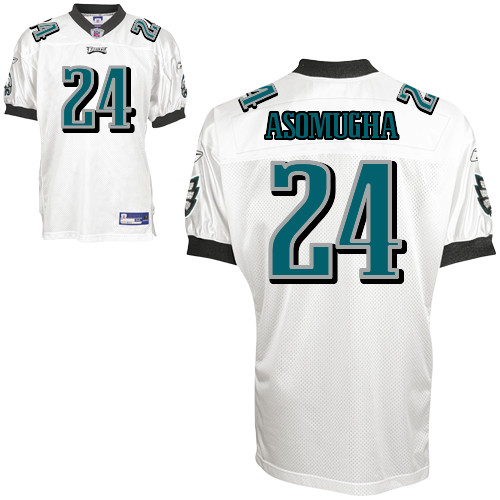 Eagles #24 Nnamdi Asomugha White Stitched Youth NFL Jersey