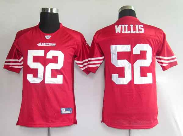 49ers #52 Patrick Willis Red Stitched Youth NFL Jersey