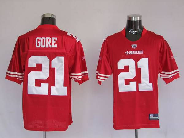 49ers #21 Frank Gore Red Stitched Youth NFL Jersey