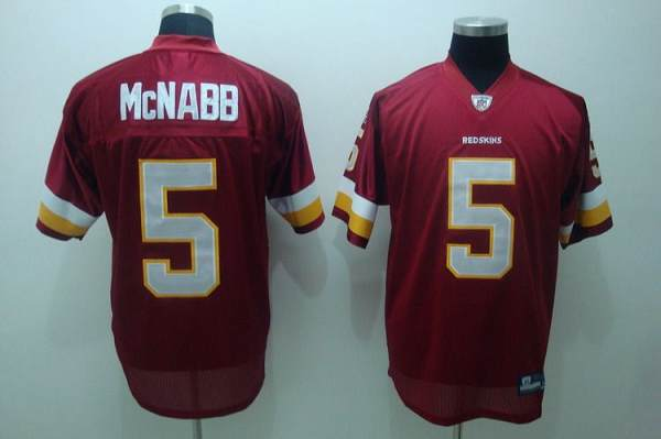 Redskins #5 Donovan McNabb Red Stitched Youth NFL Jersey