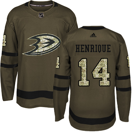 Adidas Ducks #14 Adam Henrique Green Salute to Service Youth Stitched NHL Jersey