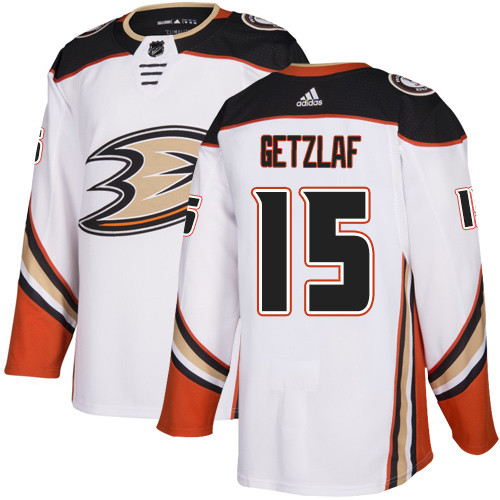 Adidas Ducks #15 Ryan Getzlaf White Road Authentic Youth Stitched NHL Jersey
