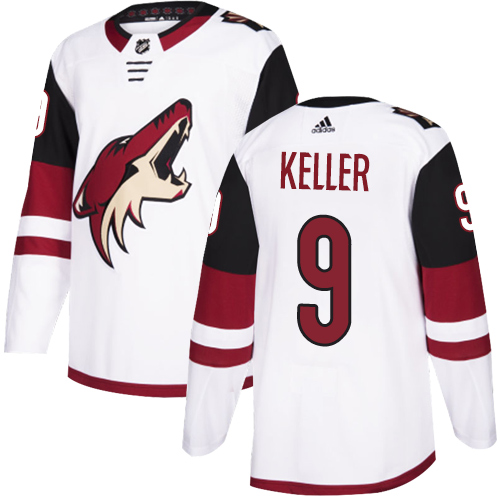 Adidas Coyotes #9 Clayton Keller White Road Authentic Stitched Youth NHL Jersey