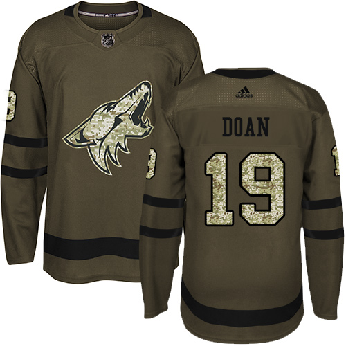 Adidas Coyotes #19 Shane Doan Green Salute to Service Stitched Youth NHL Jersey
