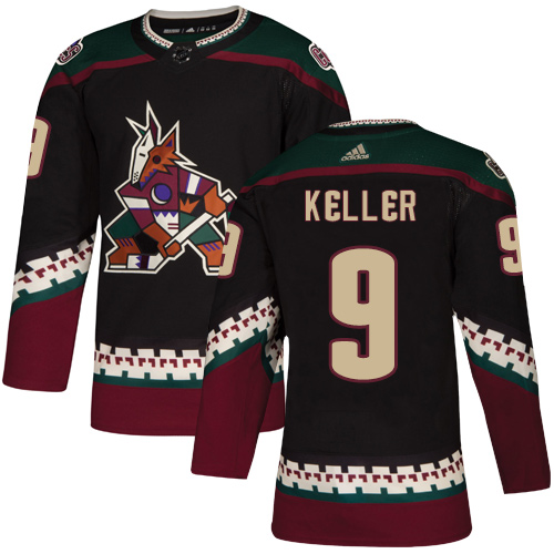 Adidas Coyotes #9 Clayton Keller Black Alternate Authentic Stitched Youth NHL Jersey