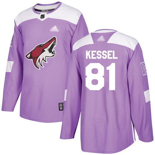 Adidas Coyotes #81 Phil Kessel Purple Authentic Fights Cancer Stitched Youth NHL Jersey
