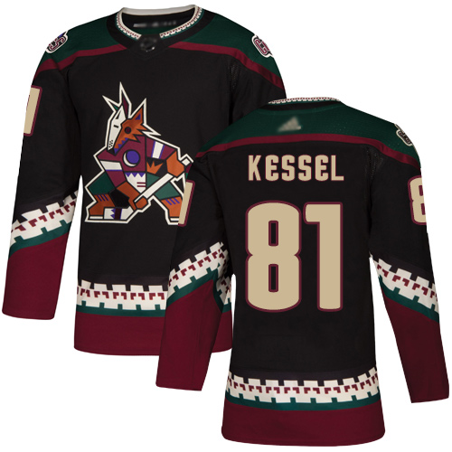 Adidas Coyotes #81 Phil Kessel Black Alternate Authentic Stitched Youth NHL Jersey