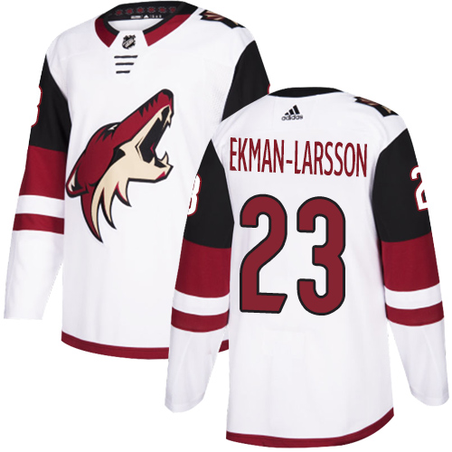 Adidas Coyotes #23 Oliver Ekman-Larsson White Road Authentic Stitched Youth NHL Jersey