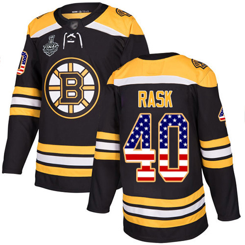 Adidas Bruins #40 Tuukka Rask Black Home Authentic USA Flag Stanley Cup Final Bound Youth Stitched NHL Jersey